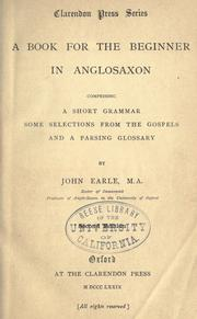Cover of: A book for the beginner in Anglosaxon