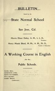 Cover of: Working course in English for the public schools ..