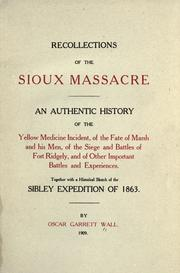 Cover of: Recollections of the Sioux massacre