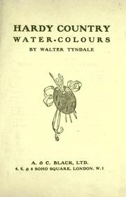 Cover of: Hardy country water-colours