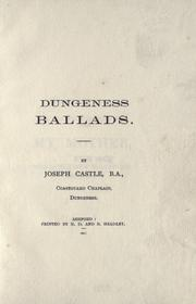 Cover of: Dungeness ballads