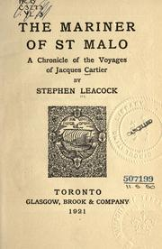 Cover of: The mariner of St. Malo: a chronicle of the voyages of Jacques Cartier