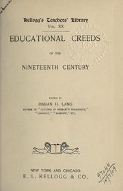 Cover of: Educational creeds of the Nineteenth century