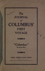 "Cover of: The journal of Columbus' first voyage: ""Columbus"""