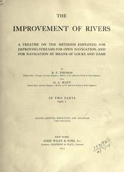 Cover of: The improvement of rivers