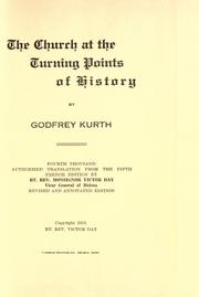Cover of: The church at the turning points of history