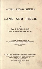 Cover of: Lane and field