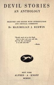 Cover of: Devil stories by Maximilian J. Rudwin