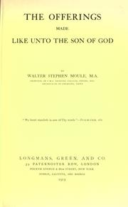 Cover of: The Offerings Made as Unto the Son of God