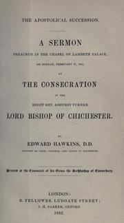 Cover of: The Apostolical succession