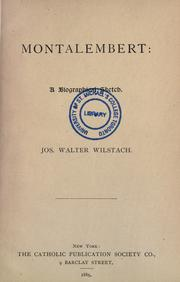 Cover of: Montalembert, a biographical sketch