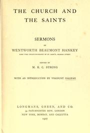Cover of: The church and the saints