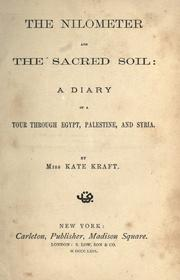 Cover of: The nilometer and the sacred soil