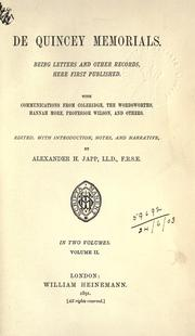Cover of: Memorials: and other papers