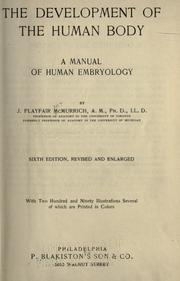 The development of the human body by J. Playfair McMurrich
