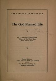 Cover of: The God planned life