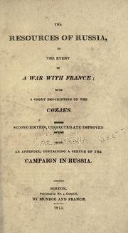 Cover of: The resources of Russia in the event of a war with France