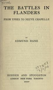 Cover of: The battles in Flanders