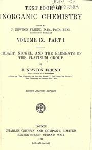 Cover of: Cobalt, nickel, and the elements of the platinum group