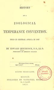 Cover of: History of a zoological temperance convention