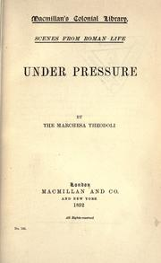 Cover of: Under pressure