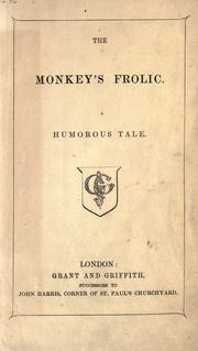 Cover of: The monkey's frolic by