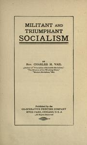 Cover of: Militant and triumphant socialism