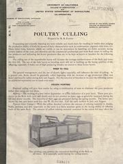 Cover of: Poultry culling