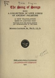 Cover of: The Song of Songs |