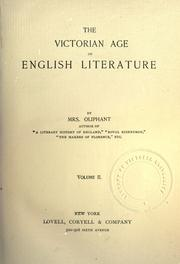 Cover of: The Victorian age of English literature