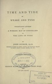 Cover of: Time and tide by Weare and Tyne: twenty-five letters to a working man of Sunderland on the laws of work