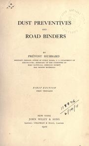Cover of: Dust preventives and road binders