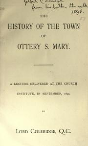 Cover of: The history of the town of Ottery S. Mary
