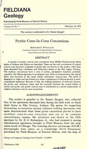 Cover of: Pyritic cone-in-cone concretions