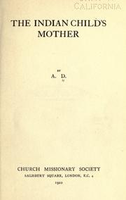 Cover of: The Indian child's mother