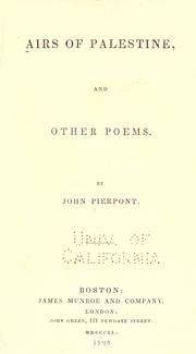 Airs of Palestine by Pierpont, John