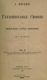 A record of unfashionable crosses in short-horn cattle pedigrees by F. P. Healy