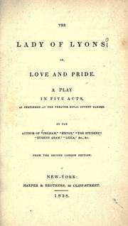 Cover of: The lady of Lyons