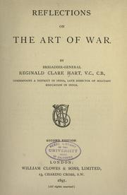 Cover of: Reflections on the art of war