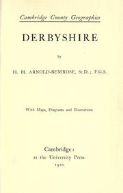 Cover of: Derbyshire