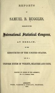 Cover of: Reports of Samuel B. Ruggles