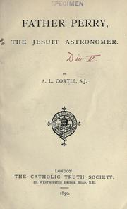 Cover of: Father Perry, the gesuit astronomer