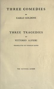Three comedies by Goldoni