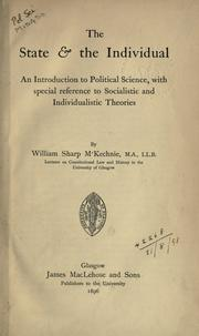 Cover of: The state & the individual