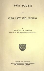 Cover of: Due south by Ballou, Maturin Murray