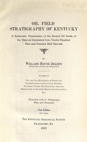 Cover of: Oil field stratigraphy of Kentucky