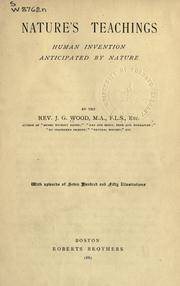 Cover of: Nature's teachings, human invention anticipated by nature