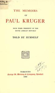 Lebenserinnerungen by Kruger, Paul