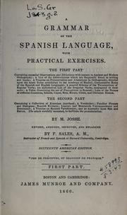Cover of: Grammar of the Spanish language: with practical exercises