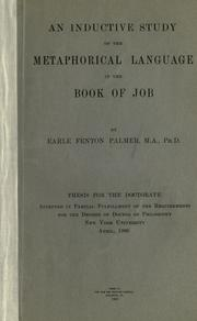 Cover of: An inductive study of the metaphorical language in the Book of Job